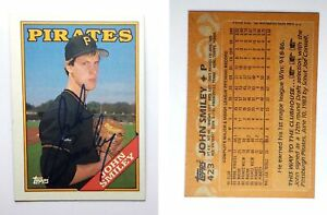 John-Smiley-Signed-1988-Topps-423-Card-Pittsburgh-Pirates-Auto-Autograph
