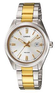 Casio-LTP-1302SG-7A-Orologi-Donna-Vetro-Minerale-Data-Batt-3-Anni-Nuovo