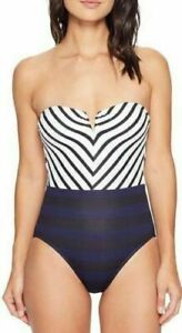 Channel Bandeau Mitered Taglia Navy Bahama Costume Tommy 16 Surfing intero blu q1w5IWO4f