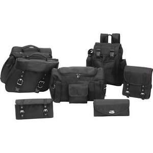 7pc 1680d Fabric Motorcycle Saddle bag/Luggage Set FOR SUZUKI INTRUDER 800 1400