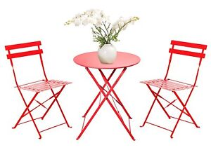 Image Is Loading New 3 Piece Folding Outdoor Bistro Sets Portable