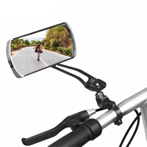 360° Flexible Rotate Rear View Cycling Aluminium Alloy Bicycle Mirror Rubber+ABS