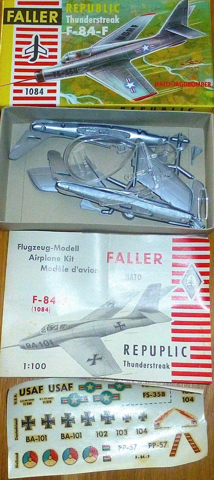 Republic f-84-f Thunderstreak Faller AMS 1084 1:100 KIT ungebaut OVP ke1 Å *