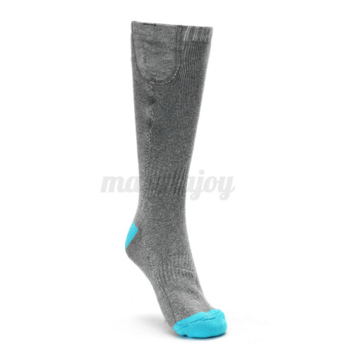 Rechargeable Battery Electric Heated Socks Boot Feet Warmers Winter Outdoor Ski
