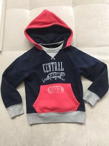 Blue Tigers Xs Boys Hooded Details Gray Gap Central Size 4 5 Jacket Red Sweatshirt Zu reWxBodC