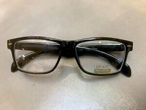 01ea6b3e50f Image is loading Black-Frame-Glasses-Fashion-Rectangle-Fake-Nerd-Interview-