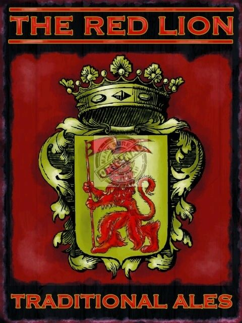 Red Lion Pub, Bar, Restaurant, Traditional Ales, Beer, Old, Small Metal/Tin Sign