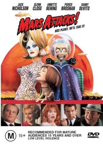 1 of 1 - Mars Attacks! (1996) Jack Nicholson - NEW DVD - Region 4