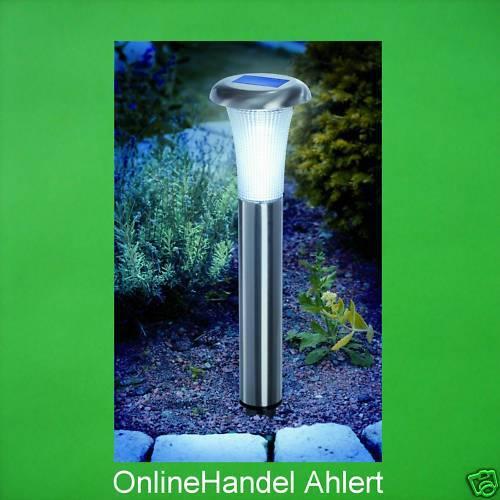 Set 2 lame Luce Solare LED Solare Lampada da giardino Lampada solare batteria lampada in acciaio inox