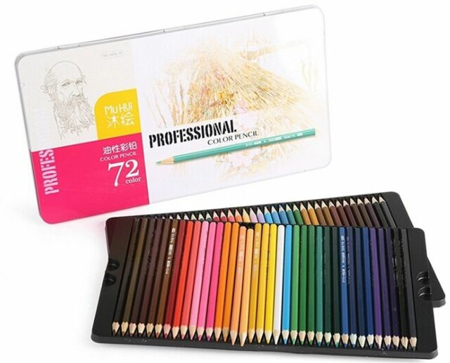 Best Colored Pencils -72 Coloring Pencil Set With Case - Artist ...