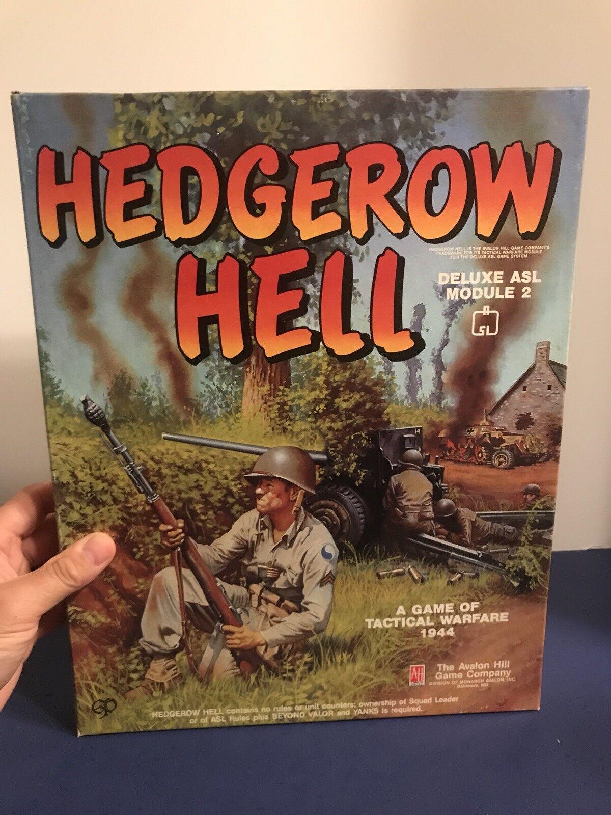 Hedgerow Infierno Deluxe ASL módulo 2 Segunda Guerra Mundial Juego De Guerra Táctica-Avalon Hill-casi Nuevo