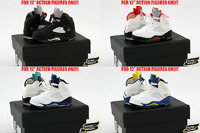 1//6 Air Jordan 5 TOYS Sneakers Enterbay Nike Keychain Sports Hot Shoes Box USA
