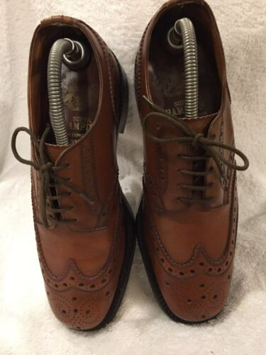 Scarpe 7 Uk uomo brogue vintage marrone pelle in vintage qU4pqA