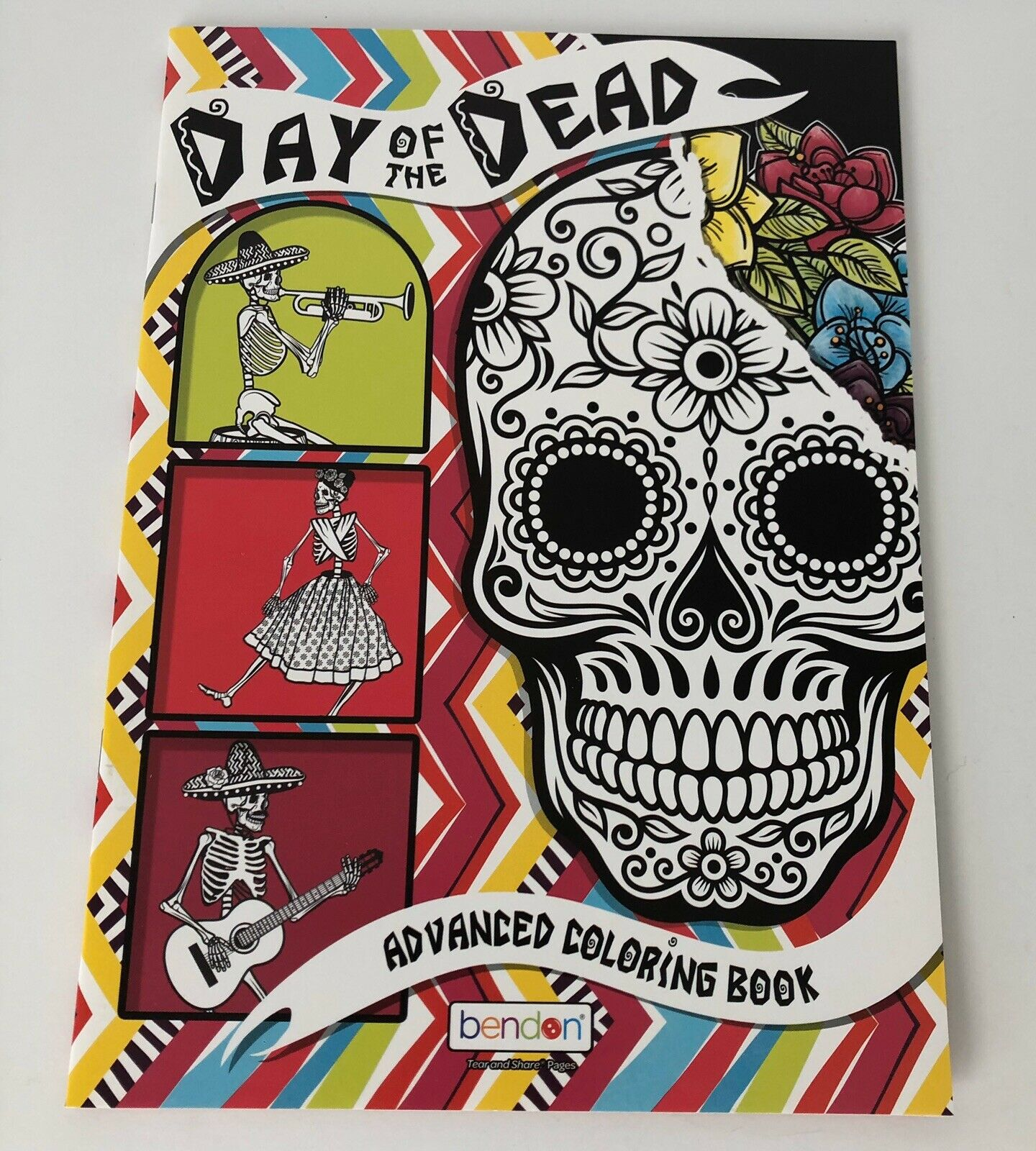 - Day Of The Dead Bendon Adult Coloring Book Sugar Skulls Flowers