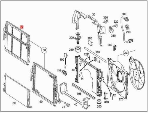 Genuine Mounting Frame MERCEDES W221 2215050641
