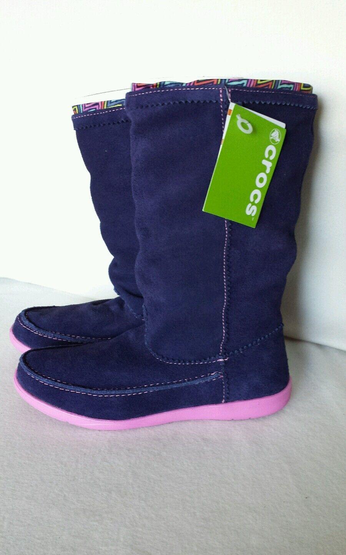 Crocs Stiefel Boot Suede Wildleder Gr 38/39   W 8