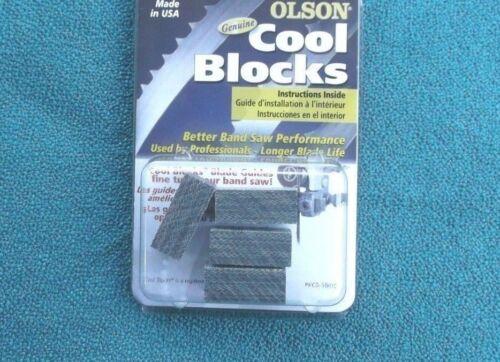 4 GENUINE OLSON COOL BLOCKS REPLACES CRAFTSMAN 3AD01101 BLADE GUIDE BLOCKS