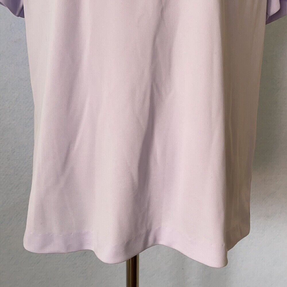 Graff Vintage Lilac Ruffled High Tie Neck Blouse,… - image 3