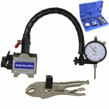 Dial Indicator 1001 Flexible Arm Any Surface Magnetic Base Grip Locking Vise