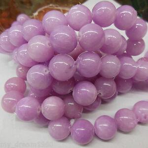 Genuine-8MM-Purple-Jade-Jadeite-Round-Gemstone-Loose-Beads-15-039-039-Strand