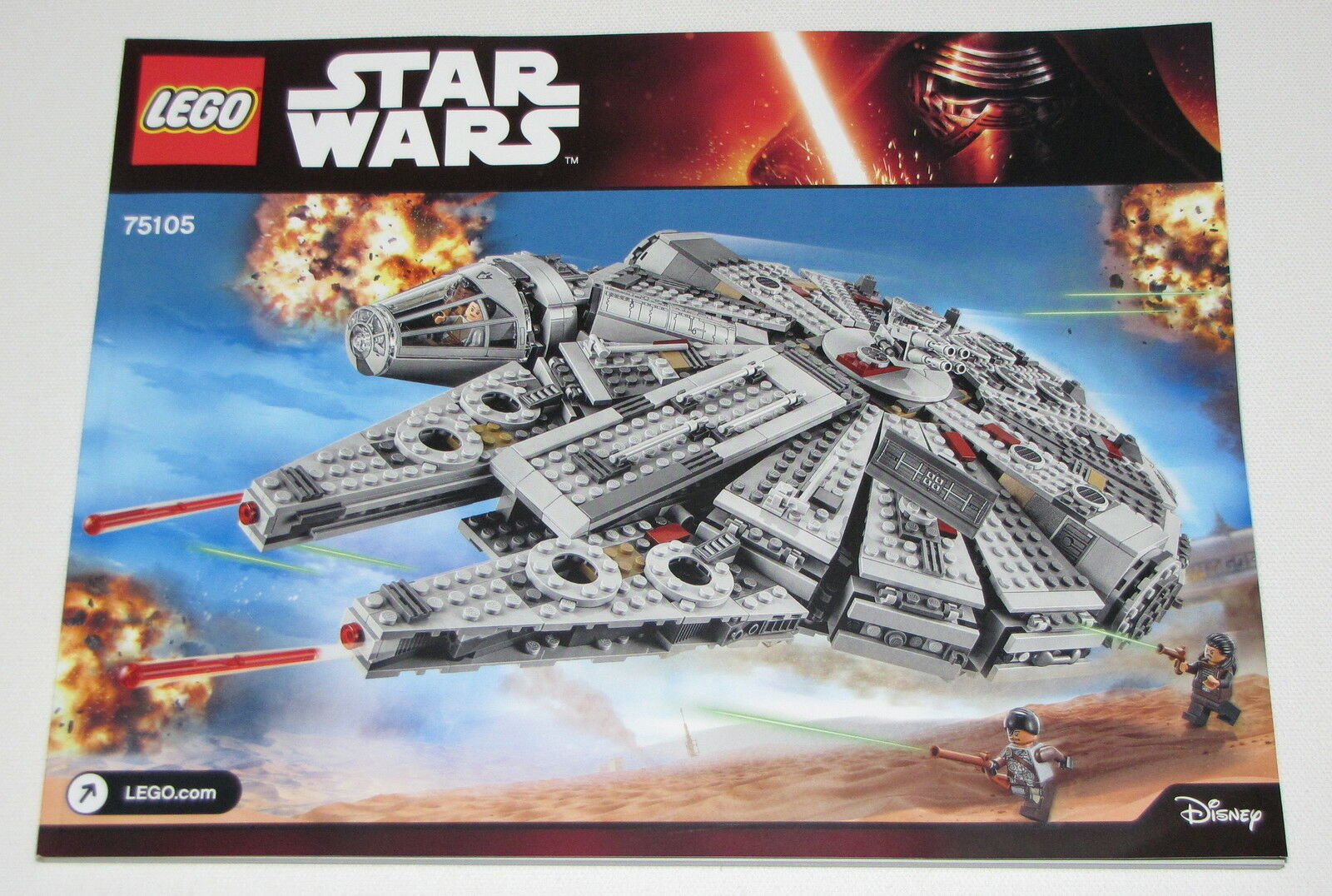 Lego New Instructions ONLY for Star Wars Set 75105 Millennium Falcon Booklet