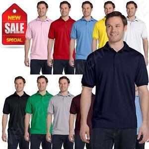 5372714ec28 Hanes Golf Tee Blended Jersey Sport Shirt Mens Polo golf shirt from ...