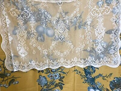 "Laura Ashley Victorian style cotton lace curtain panel 36/""by 36/"" Jessica Cream"