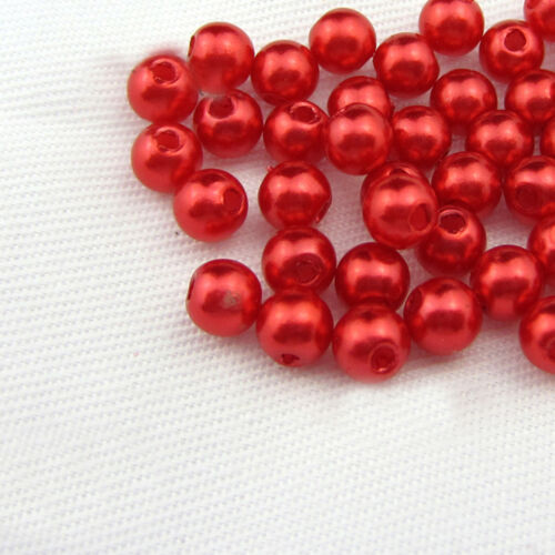 Various Color Beads Acrylic Loose Round Pearl Spacer 400x4mm 200x6mm 100x8mm