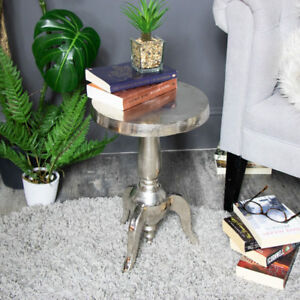 Kleine Side Table.Details Zu Small Silver Round Side Occasional Pedestal Table Shabby Country Vintage Chic