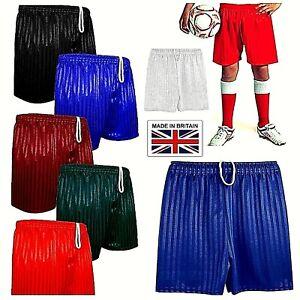 Shorts Boys Girls Children PE School Shadow Stripe Gym Sports Football Games