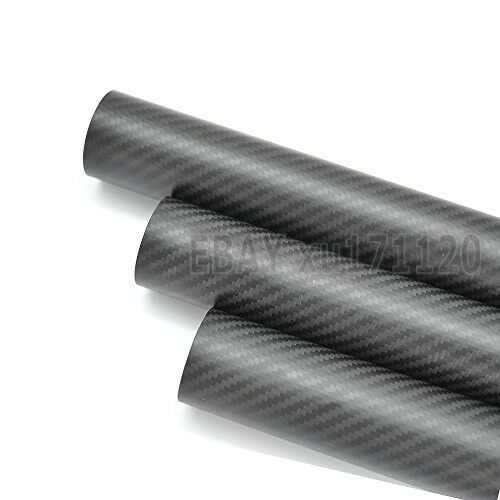 ID 90mm x OD 94mm x 500mm 3k Carbon Fiber Round Tube Matte (Roll Wrapped) 9086