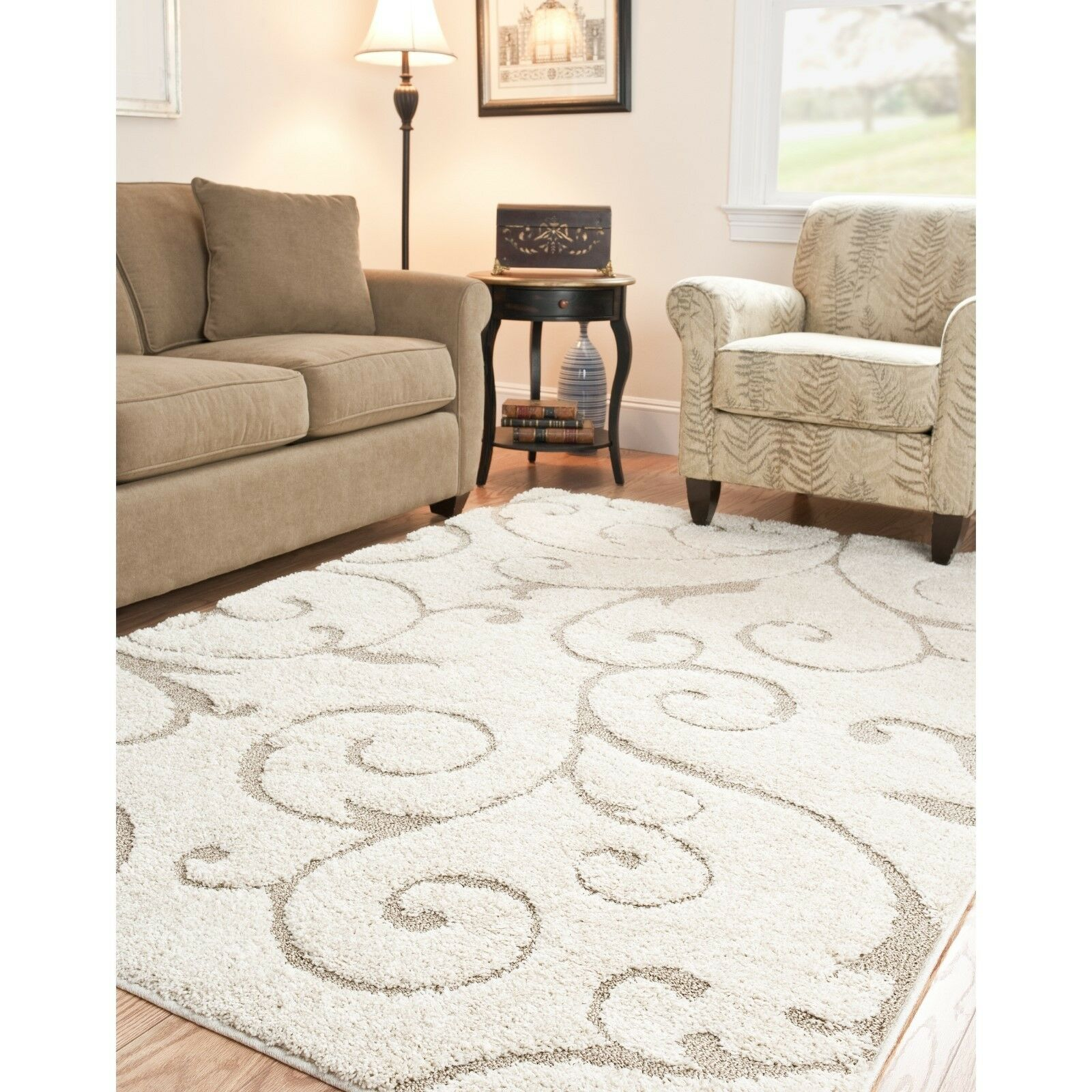 Modern area rug shag carpet floor dining living room - Living room area rugs contemporary ...