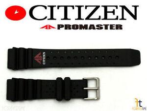 Caoutchouc Plongeant Montre Bracelet Noir Convenable Citizen Promaster 22mm