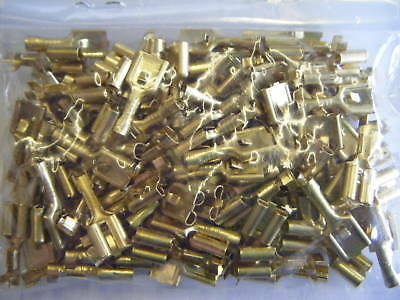 Female Lucar 6.3mm Terminals With Locking Tag QTY 100