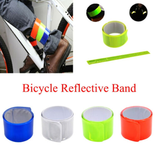 Bicycle Reflective Safe Leg Pants Clip Strap Beam Band Bottom Belt Gift BSCA