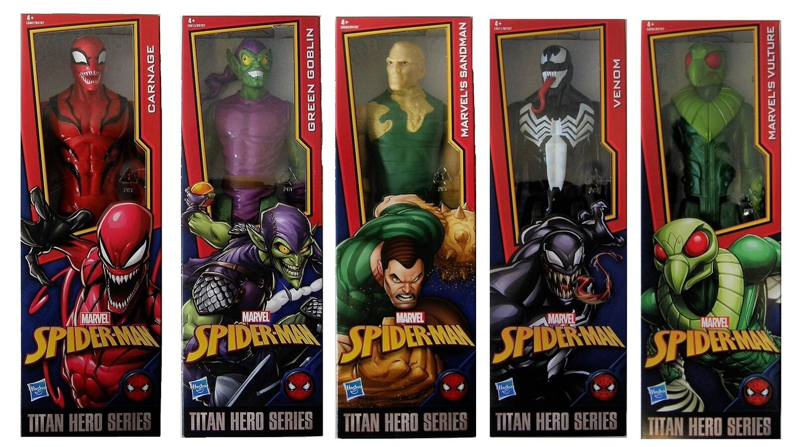 Marvel Action Figures Titan Hero Series 30 cm spiderman villains from movies New