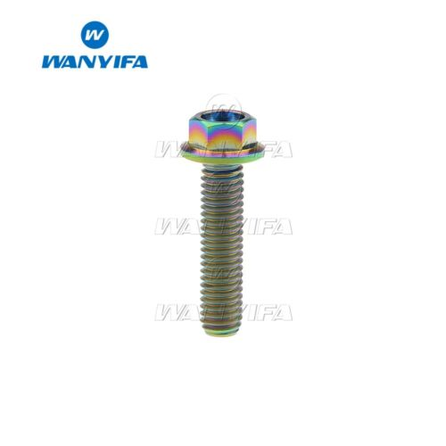 Flange Head Titanium Ti Bolt Screw M6x10 15 20 25 30 35 40 45 50 55 60 65mm Bolt
