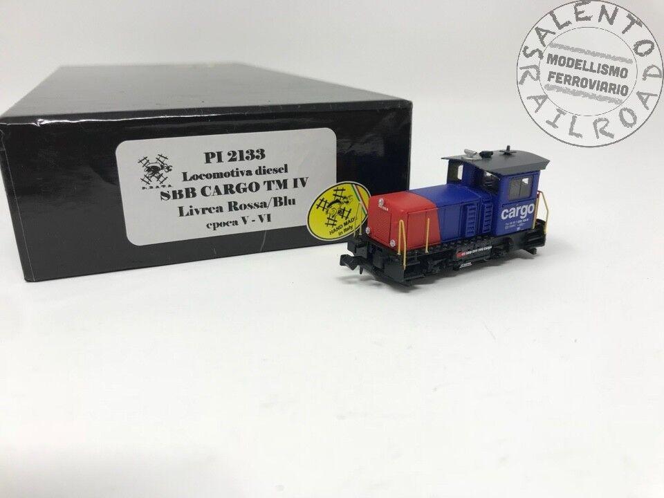 Pirata 2133 locomotora diesel SBB Cochego TM IV rojo-azul - escala N