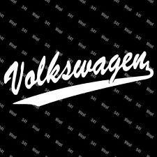 "Volkswagen VW Varsity Vinyl 9"" Decal illest jdm classy lowlife funny car sticker"