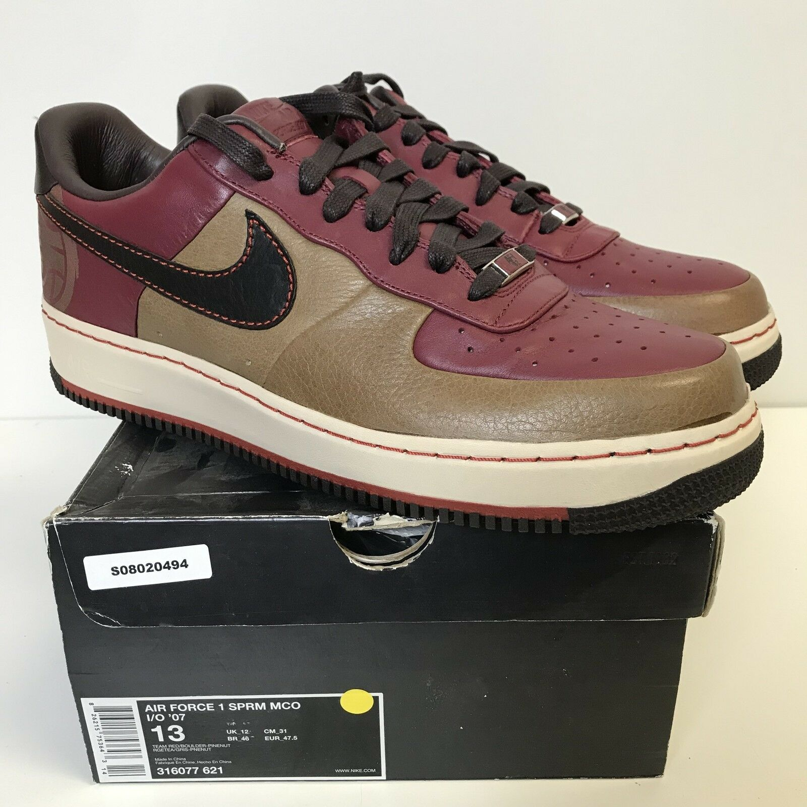 Nike Air Force 1 Supreme MCO I O '07  The Dome Baltimore  316077-621 New US 13