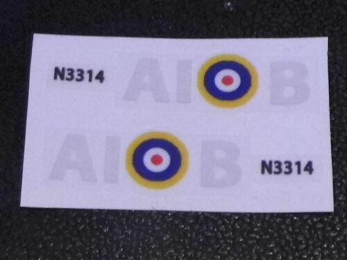 Dinky Spitfire 719 estilo auténtico escuadrón Marcas. Integralismo