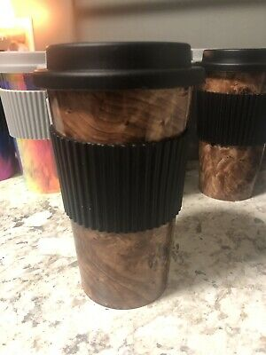 18 oz cup With Protective Sleeve Tumbler Coffee Multicolor Rainbow Swirl