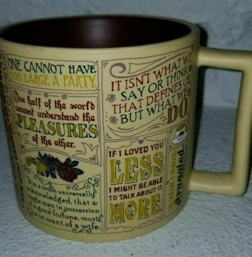 jane austen coffee mug most famous quotes depictions gift box for