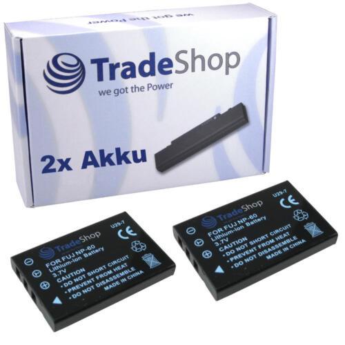 2x batería F Pentax Optio 330 430 330 RS 430rs 450 550 555