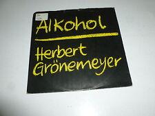 "HERBERT GRONEMEYER - Alkohol - 1984 Dutch 2-track 7"" Juke Box Vinyl Single"