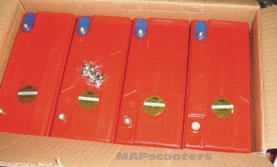4 x 12 Volt 20 Ah Batteria Sigillato PiomboAcido per Elettrico GoCart Quad