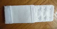 2 Hooks Bra Extender Add 3 To 4 Inches, Lot 1 White