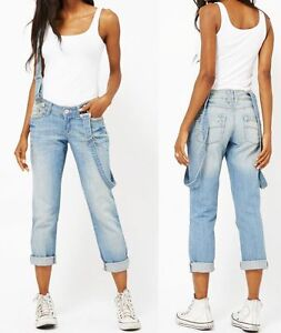 NEU-Baggy-Boyfriend-Jeans-7-8-Hose-Traeger-Jeanshose-36-40-S-L