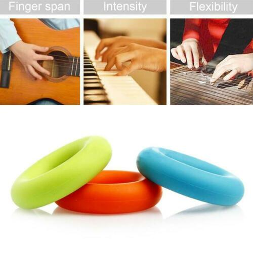Silica Gel Portable Hand Grip Gripping Ring Carpal Grip Trainer Expander Fi V8P2