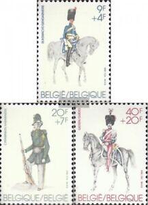 Belgio-2083-2085-completa-Edizione-nuovo-linguellato-1981-Uniformi-militari